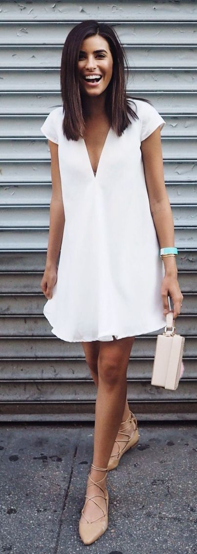 white casual summer dress
