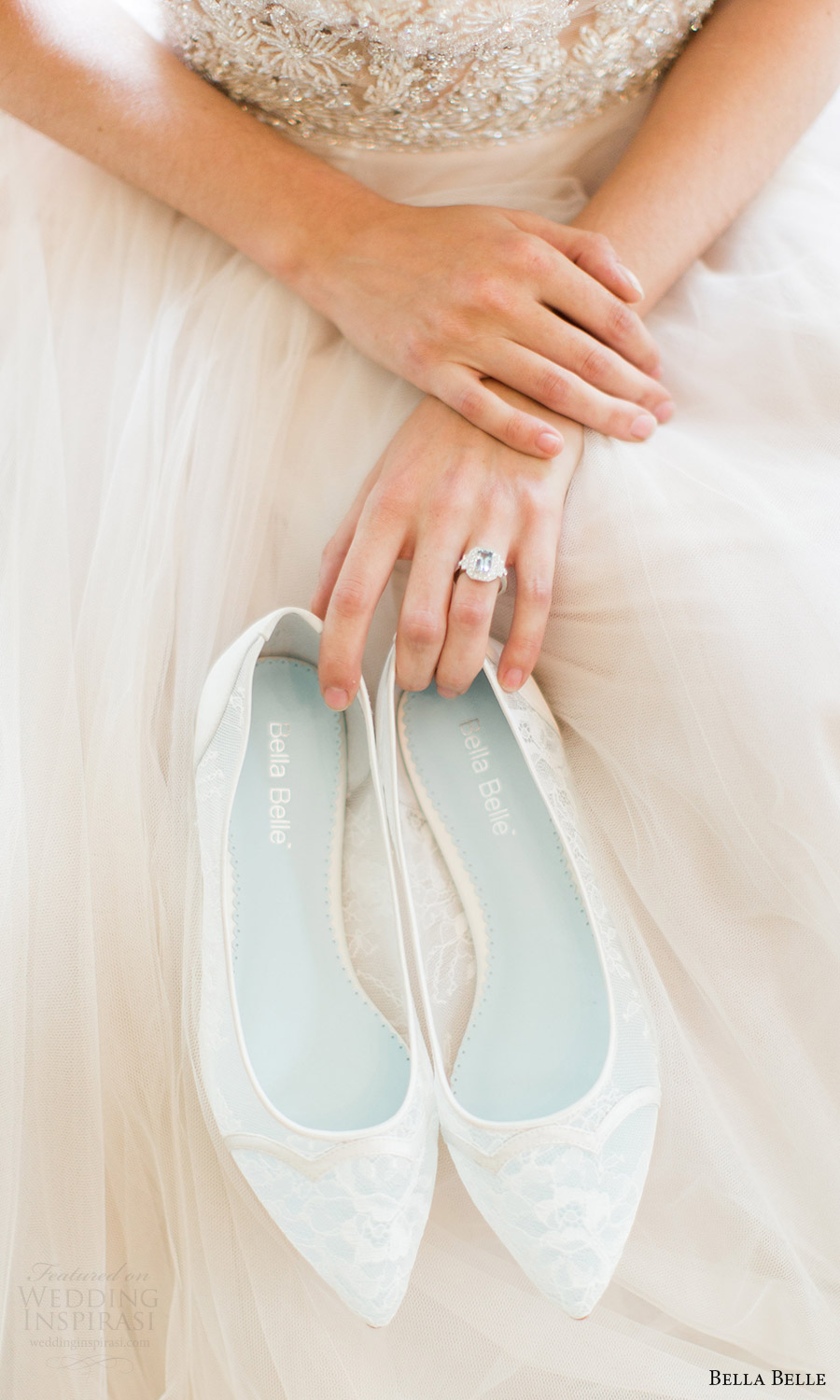 bella belle bridal shoes 2016 sophie scalloped chantily lace flat wedding shoes