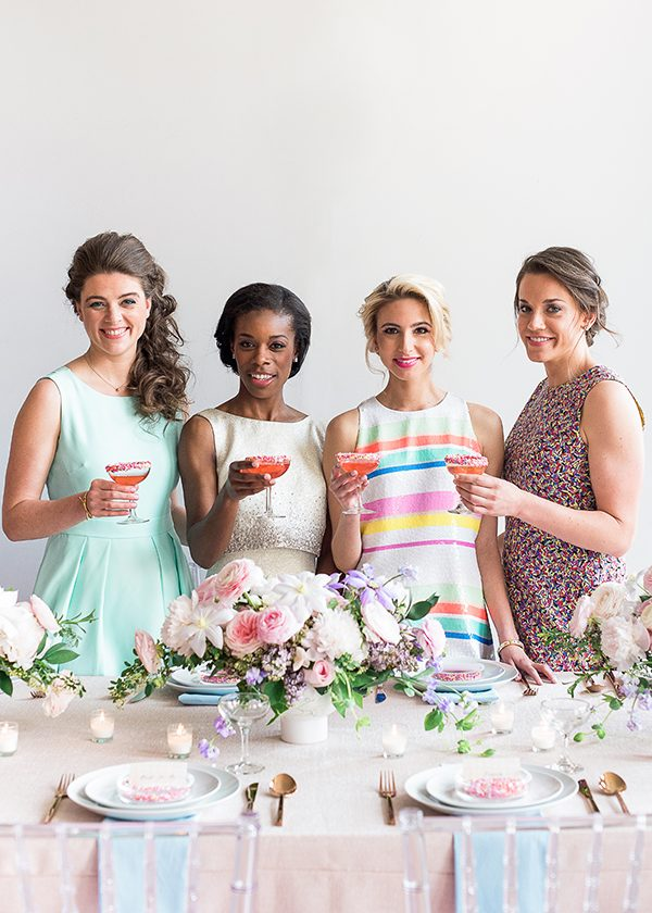 bridal luncheons - photo by Brklyn View Photography http://ruffledblog.com/she-got-scooped-up-wedding-inspiration