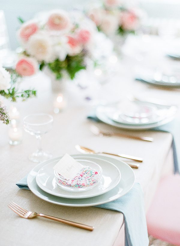 pink and blue wedding ideas - photo by Brklyn View Photography http://ruffledblog.com/she-got-scooped-up-wedding-inspiration