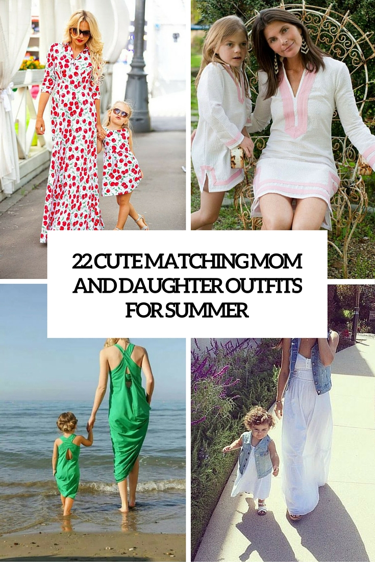 matching mom and daughter outfits for summer