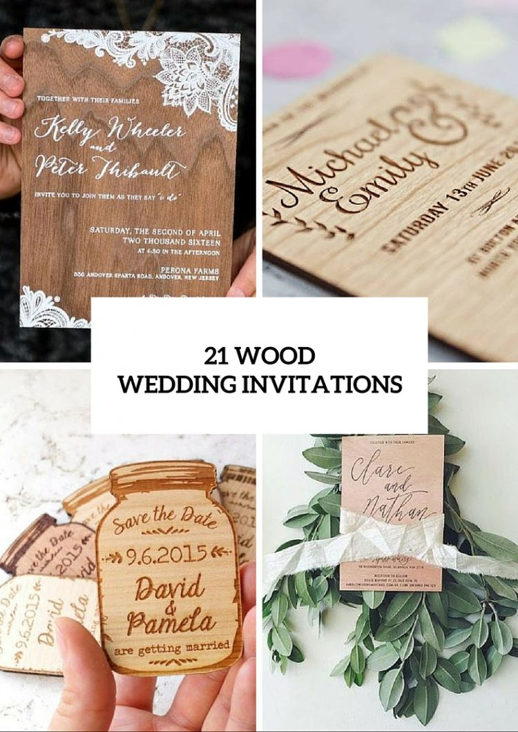 21 Original Wood Wedding Invitation Ideas | Wedding