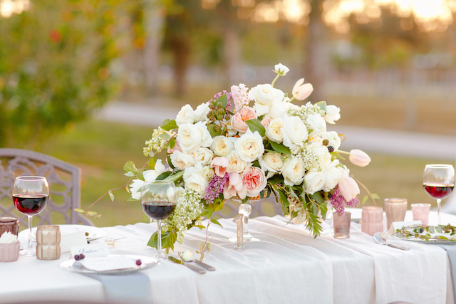Overflowing floral centrepiece | Set Free Photography