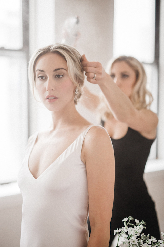 Bridal hair | Photography: Loren Weddings