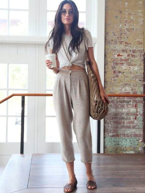 Comfy outfit with high waist pants and shirt