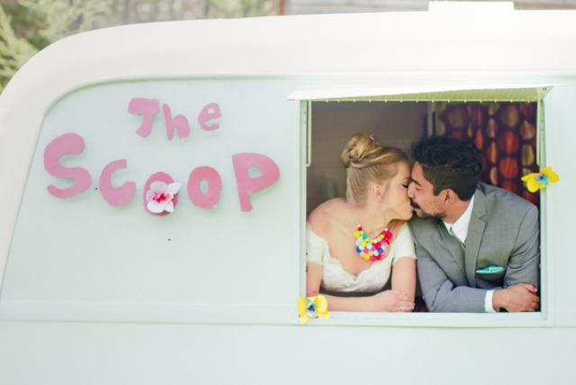 the Scoop became an important part of the shoot decor