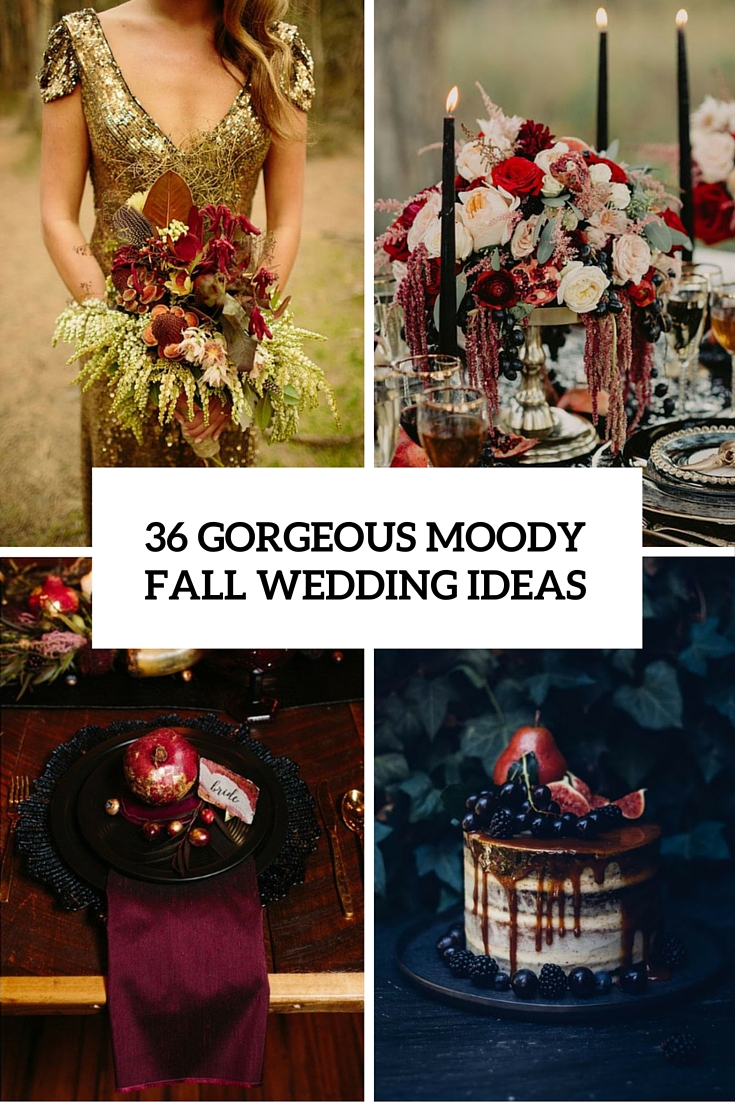 gorgeous moody fall wedding ideas cover