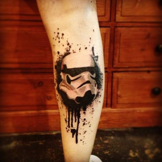 black and white Stormtrooper