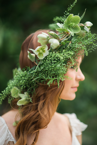 Greenery flower crown | Eileen Meny Photography