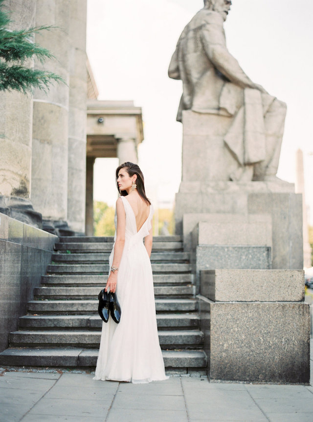 Urban Warsaw, Poland bridal fashion shoot with Euro Chic wedding dresses | Ana Lui Photography