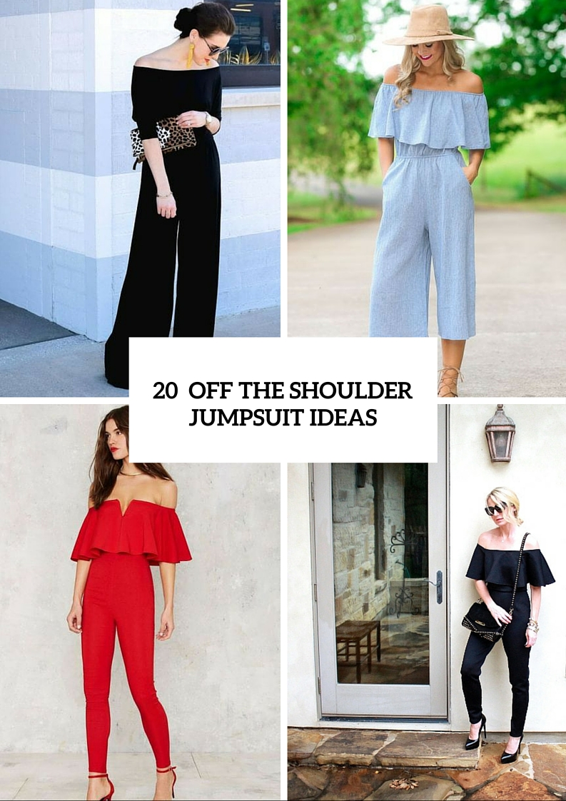 Adorable Off The Shoulder Jumpsuit Ideas