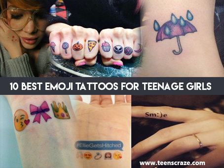 Emoji Tattoo Ideas for Teenage Girls