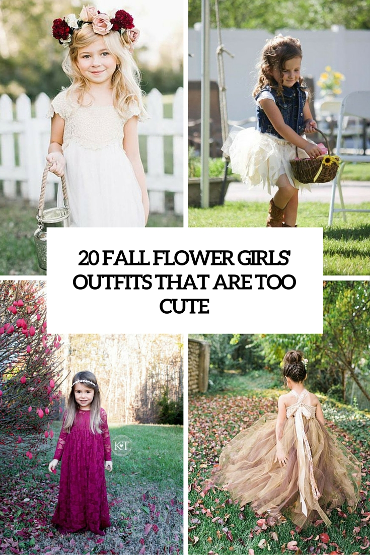 fall flower girl outfits that are too cute cover