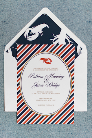 Red, white, and blue lobster bake wedding | Eileen Meny Photography