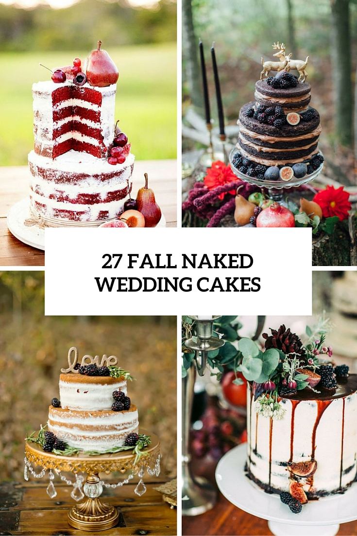 fall naked wedding cakes cover