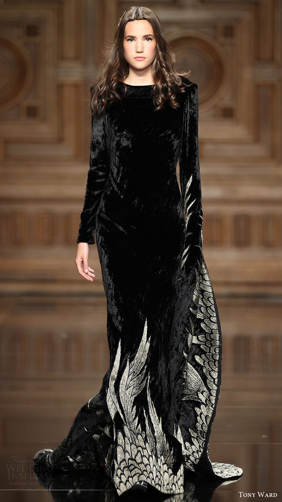 tony ward couture fall 2016 long sleeves dress (37) mv black color