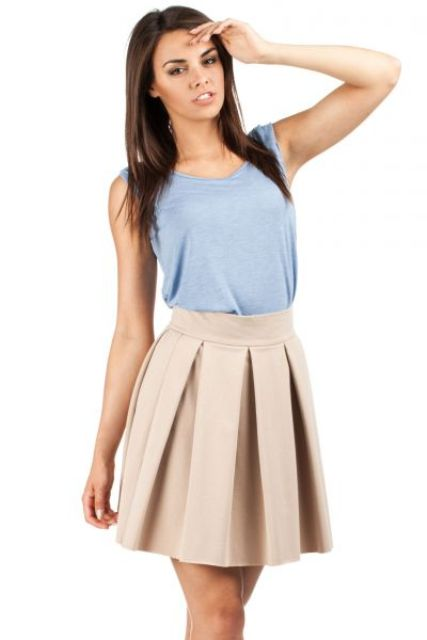 Simple outfit with mini skirt and top