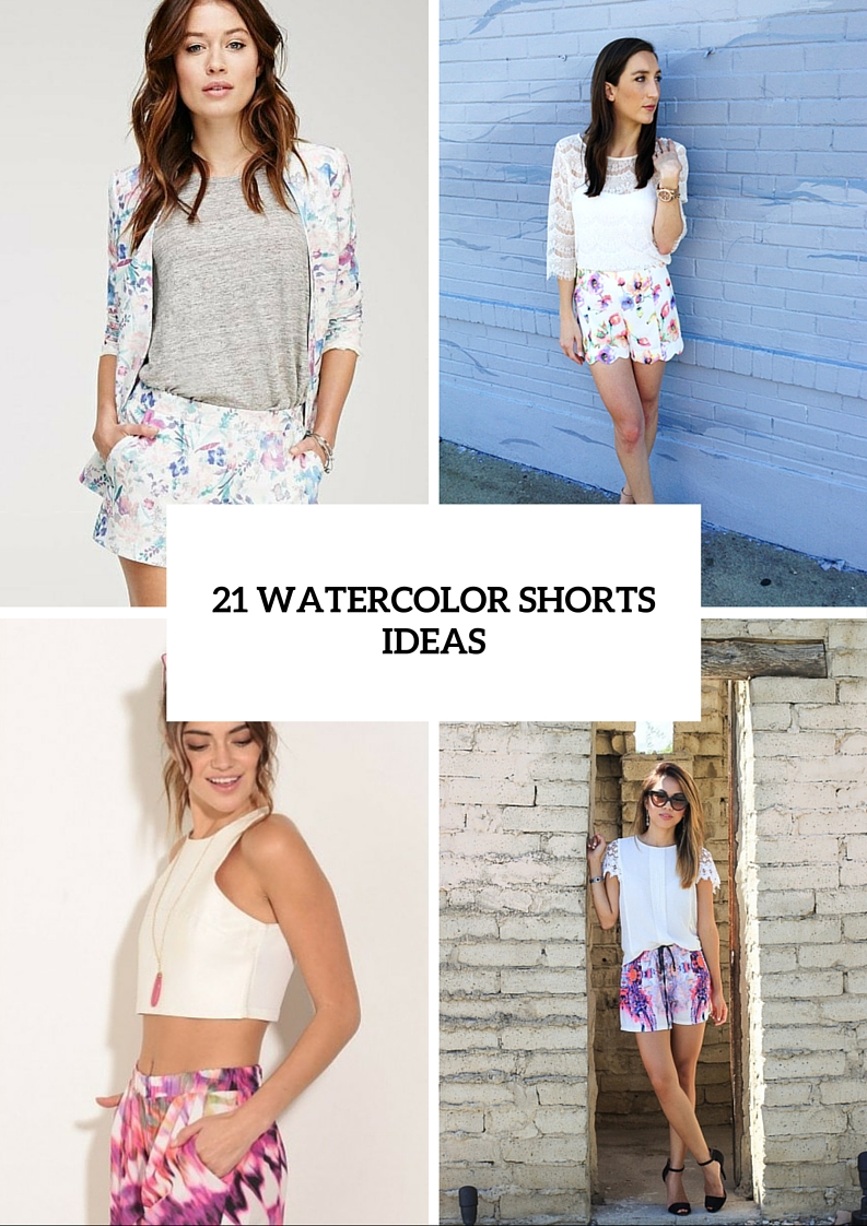 Cool Watercolor Shorts Ideas For This Season