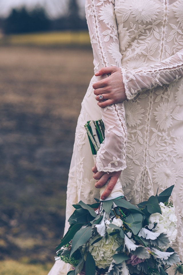 Wedding dress with sleeves | Ed & Aileen Photography