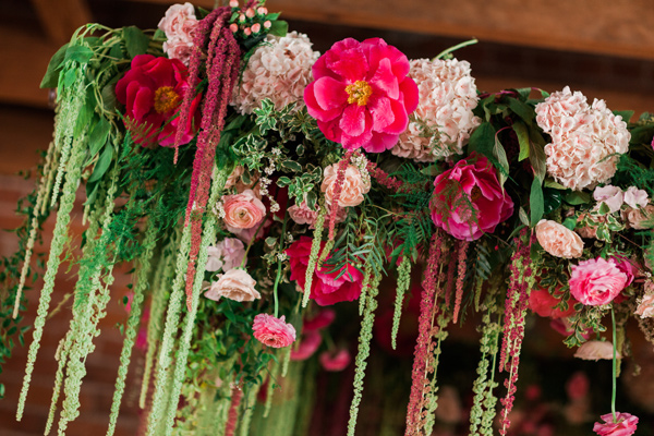 floral decor - photo by Valorie Darling Photography http://ruffledblog.com/floral-filled-carondelet-house-wedding