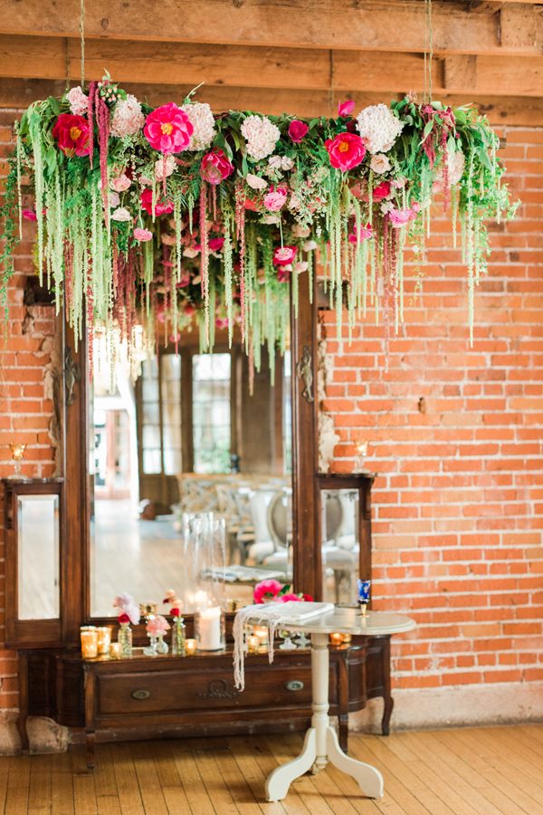 floral chuppah - photo by Valorie Darling Photography http://ruffledblog.com/floral-filled-carondelet-house-wedding
