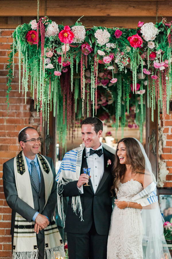 Jewish wedding ceremony - photo by Valorie Darling Photography http://ruffledblog.com/floral-filled-carondelet-house-wedding