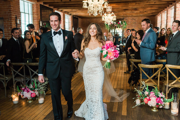 ceremony recessional - photo by Valorie Darling Photography http://ruffledblog.com/floral-filled-carondelet-house-wedding
