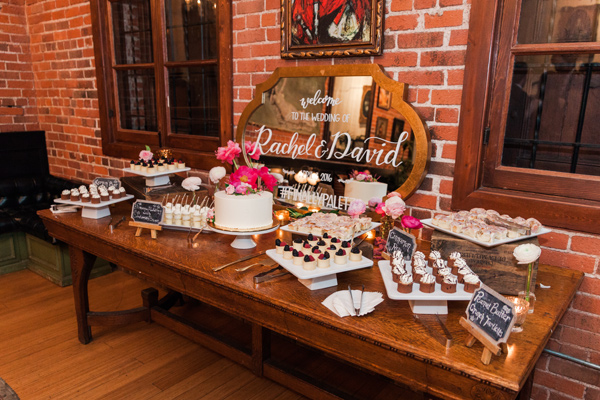 dessert table - photo by Valorie Darling Photography http://ruffledblog.com/floral-filled-carondelet-house-wedding