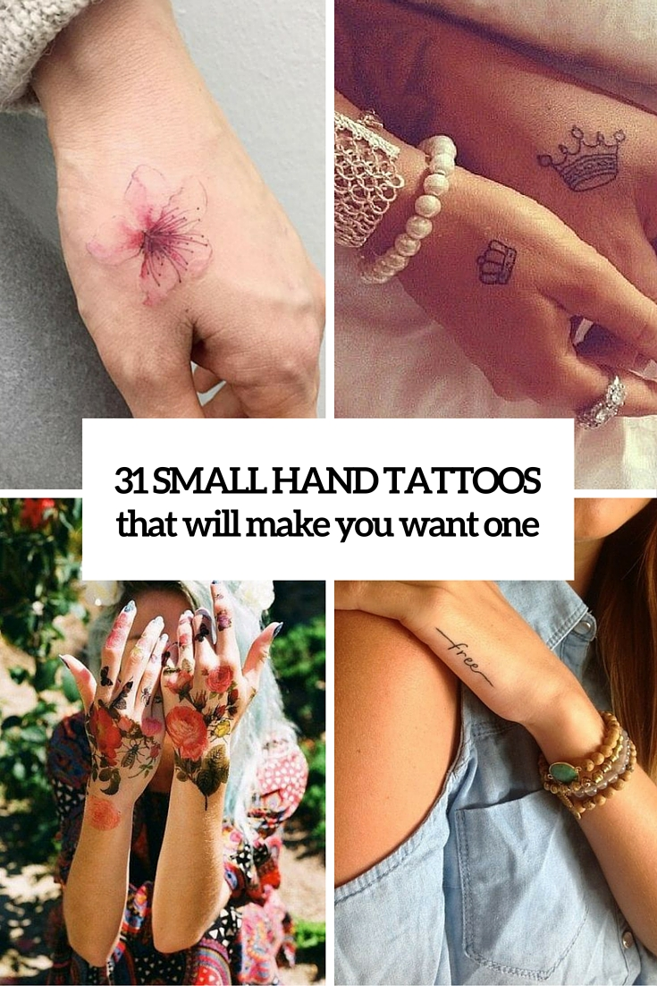 small hand tattoos that will make you want one cover