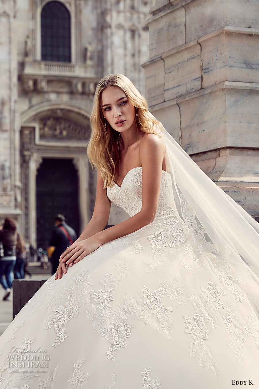 eddy k milano bridal 2017 strapless sweetheart neckline heavily embellished bodice princess ball gown a line wedding dress (md229) zv