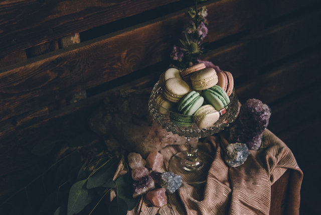 Macarons and geodes | Ed & Aileen Photography