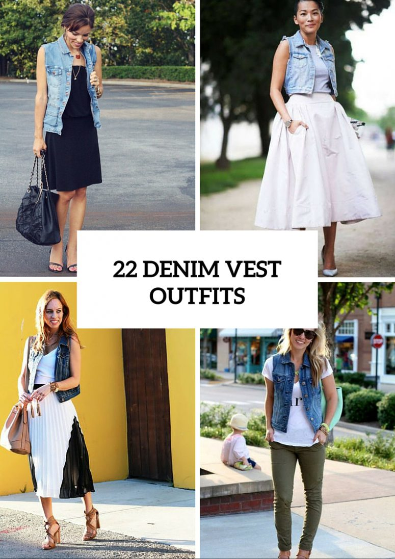 Awesome Outfits With Denim Vests To Try This Summer