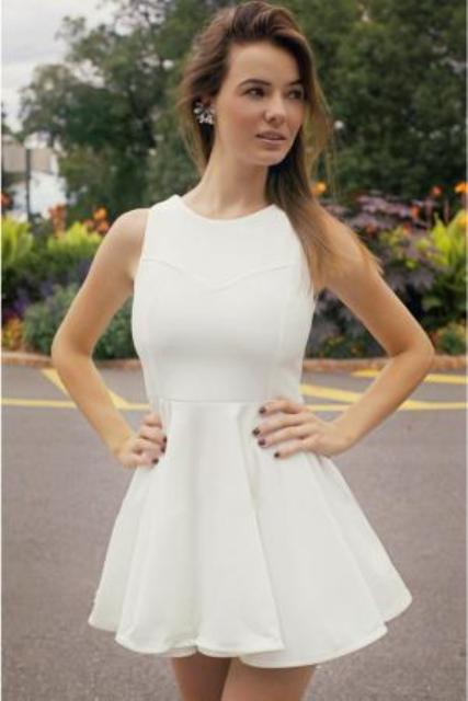 Feminine outfit with skater dress