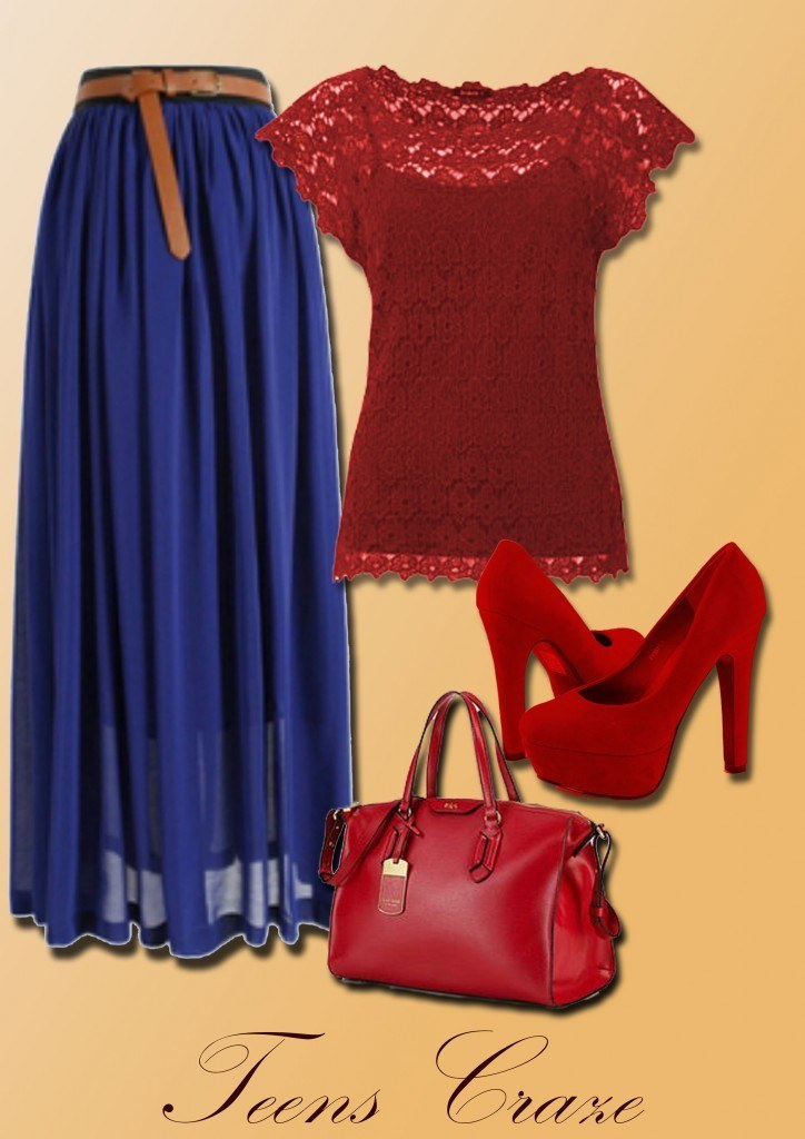 #9 - Hot Red and Royal Blue Combo