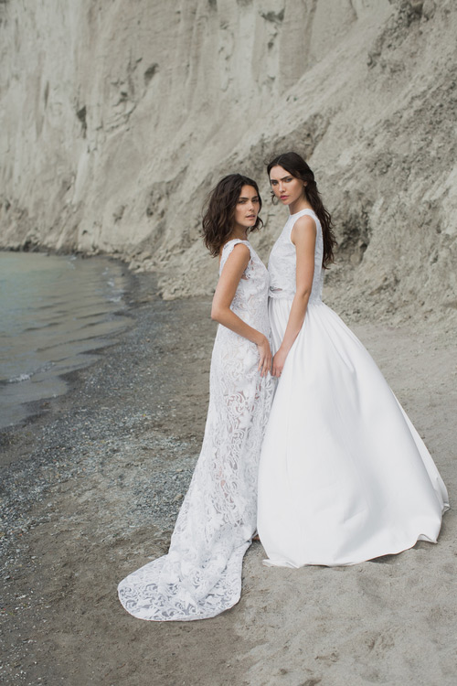 A lace gown is amazing for a boho bride, and the bridal separate with a lace top is great for fashion forward brides