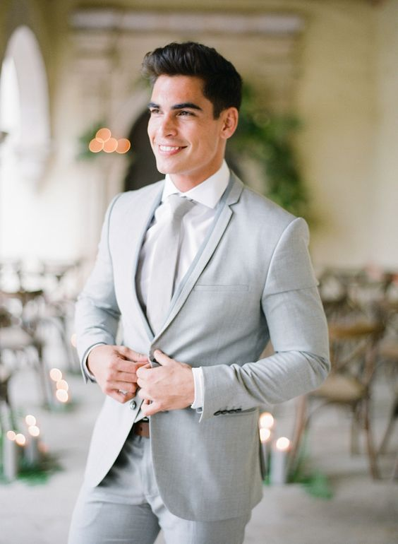 light grey groom