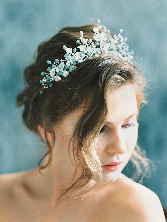 Grey pearl crown | Svetlana Strizhakova