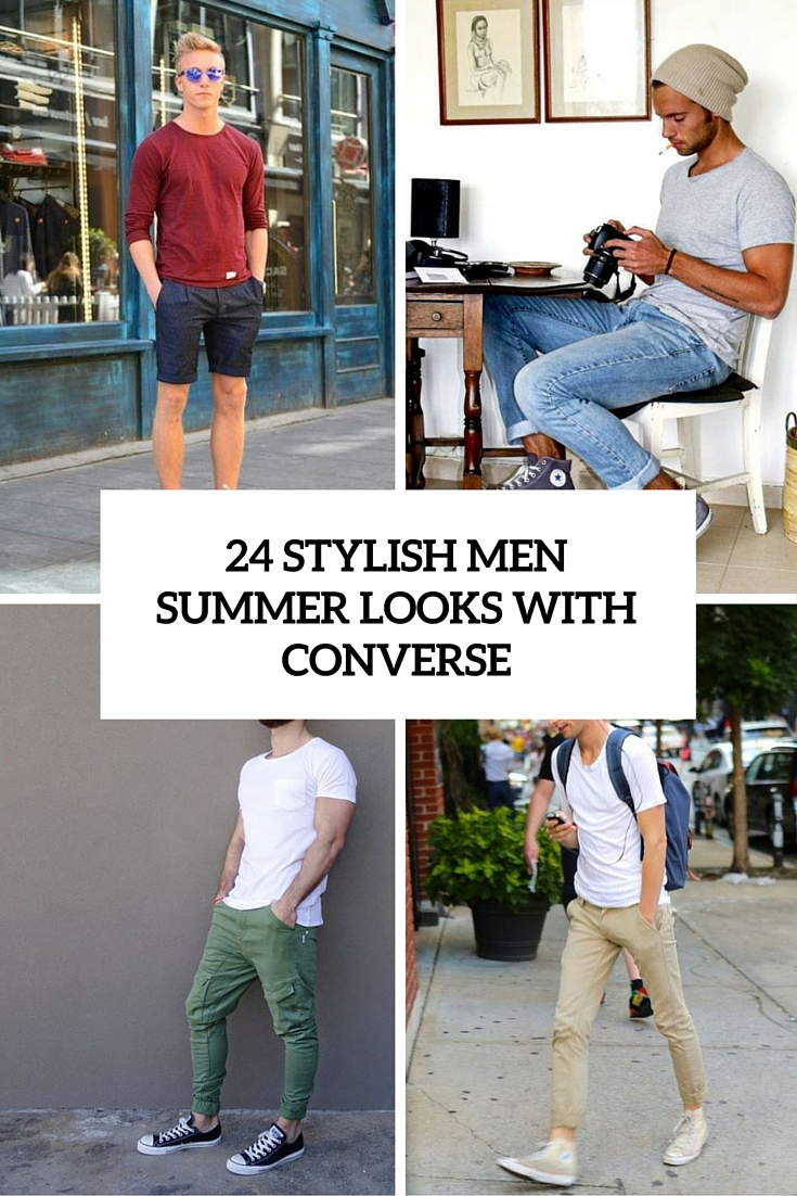 stylish men summer looks with converse cover