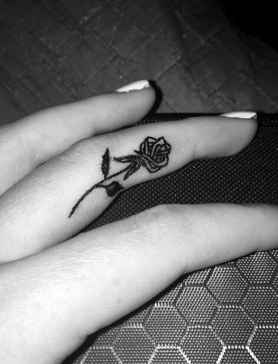 rose on a finger
