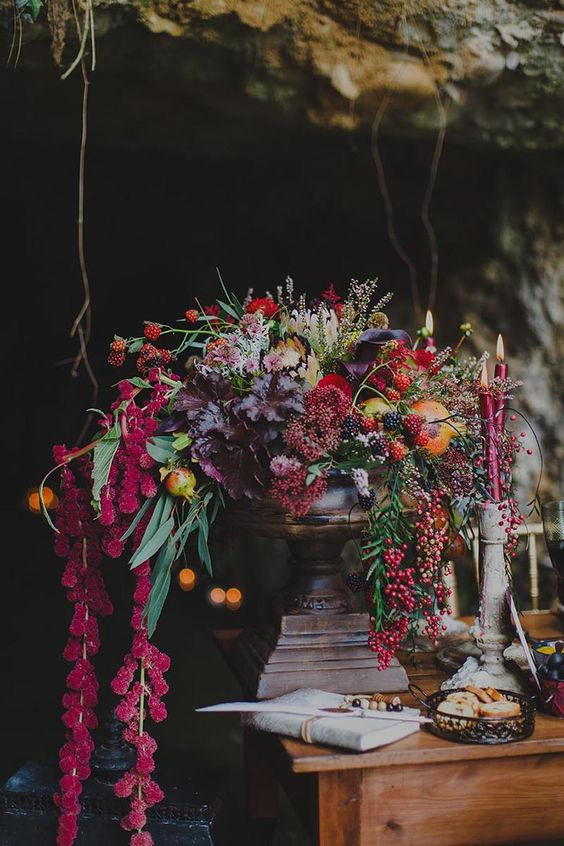 lush fruit and berries centerpiece