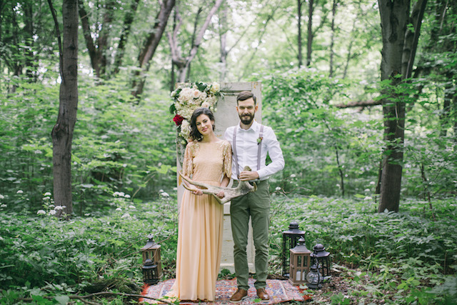 Forest wedding ceremony | Alena Plaks
