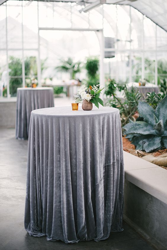 light grey wedding tables