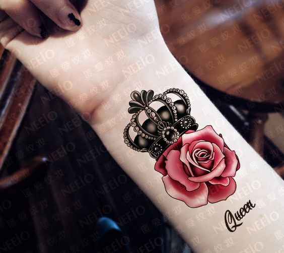 crown and rose