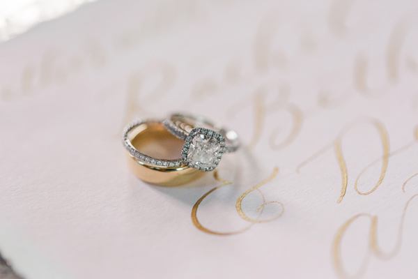wedding rings - photo by Valorie Darling Photography http://ruffledblog.com/floral-filled-carondelet-house-wedding