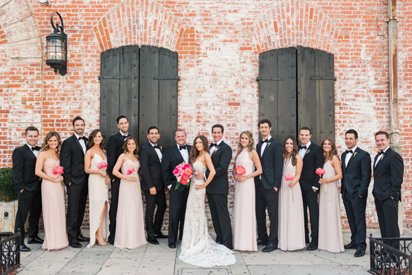 wedding party - photo by Valorie Darling Photography http://ruffledblog.com/floral-filled-carondelet-house-wedding