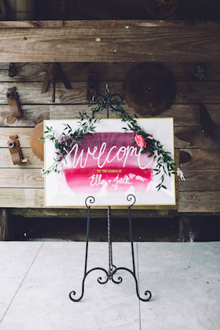 Watercolor welcome sign | Monika Gauthier Photography