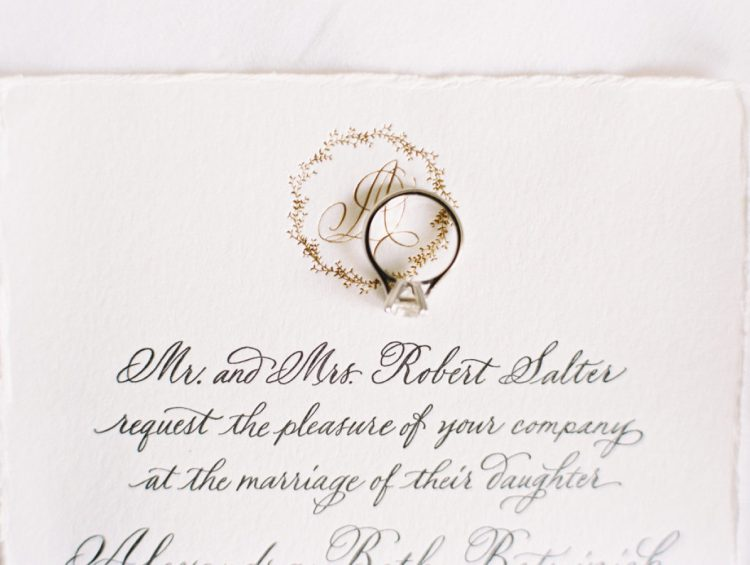 the wedding was traditional meet organic, so the stationery was very elegant