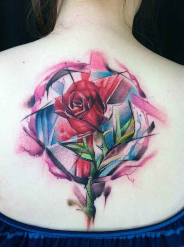 a very interesting geometric design for a back