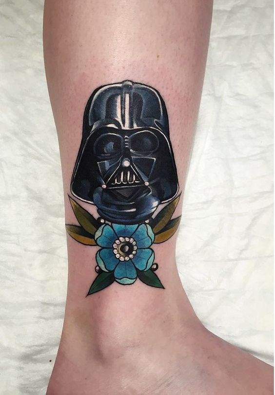 Darth Vader leg tattoo for a girl