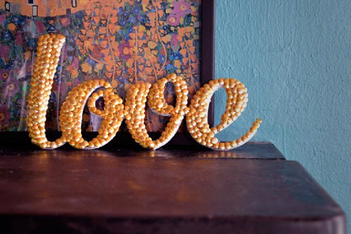 #22 - Letter Art with Thumb Tacks